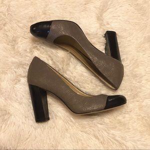 Ann Taylor pump, taupe & black, sz 6M